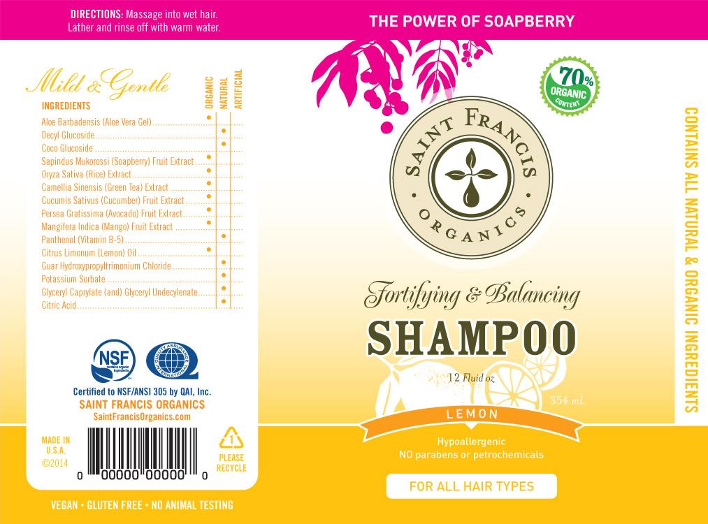 St. Francis Shampoo Label